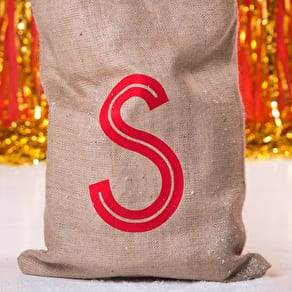 Big Letter Secret Message Christmas Sack