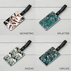 Patterned Luggage Tag