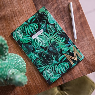Tropical  Design Copper Monogram Notebook