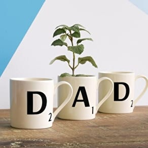 Dad Scrabble Mug Set