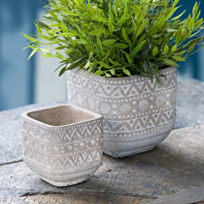 Cement Aztec Planter