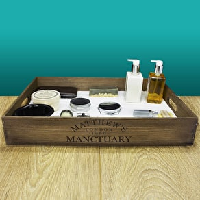 Personalised 'Manctuary' Tray