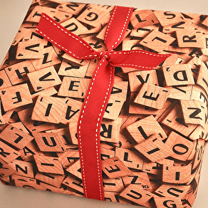 Scrabble Wrapping Paper