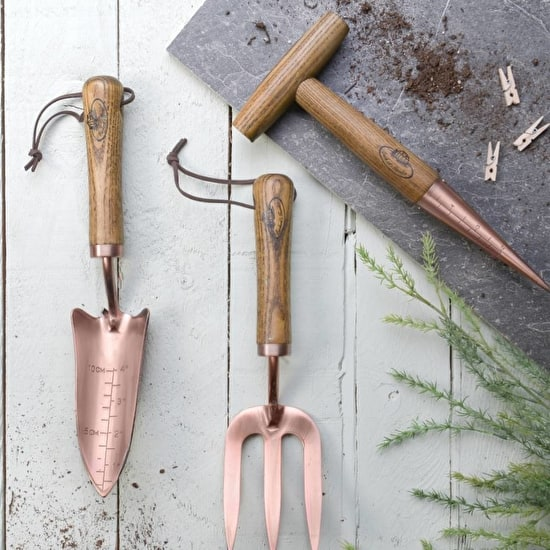 Copper gardening tools for Ladies garden trowel set