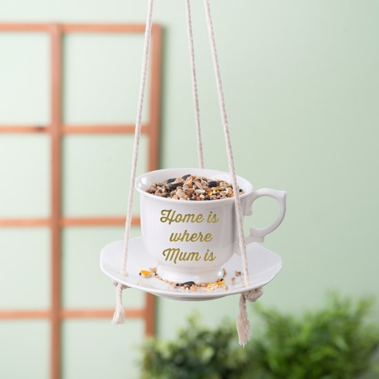 Personalised Tea Cup And Saucer Bird Feeder