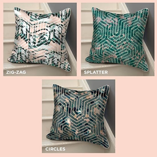 Geometric Pattern Cushion