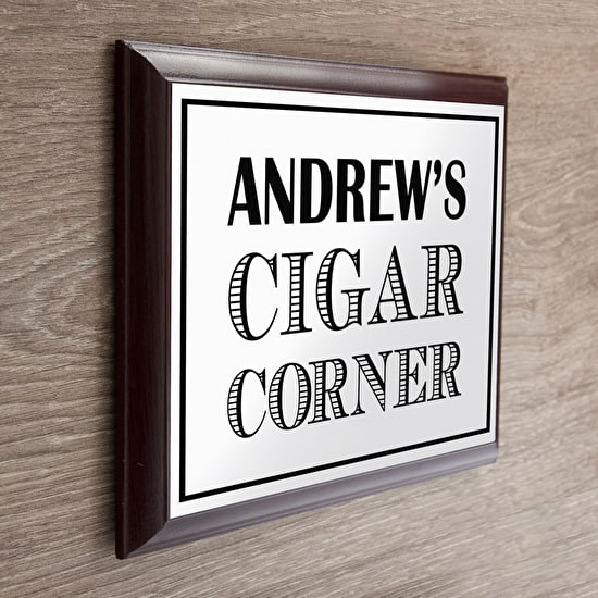 Personalised Cigar Corner Plaque