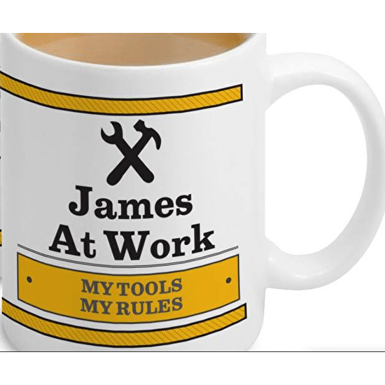 Personalised 'Man At Work ' Mug