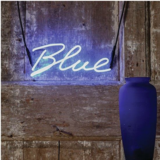 Blue Neon Word Light