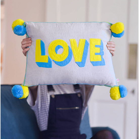 Love Pom Pom Cushion