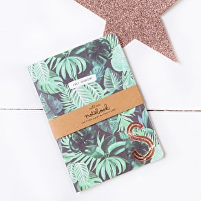 Palmleaf Design Copper Monogram Notebook