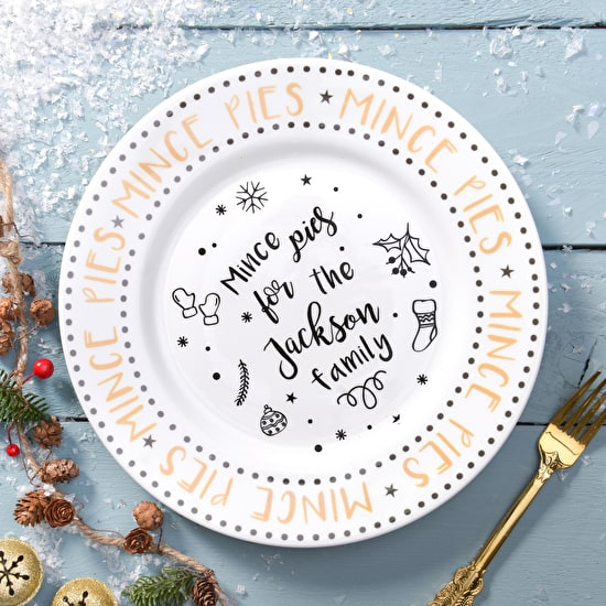 Personalised Luxury Christmas Plate