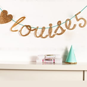 Personalised Alphabet Gold Sparkle Bunting
