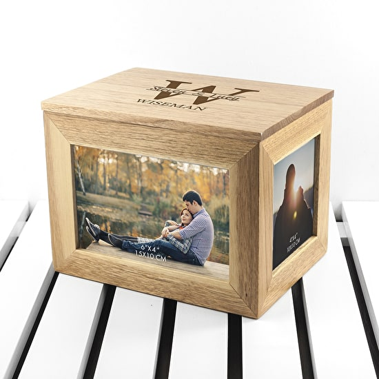 Personalised Couples Photo Cube Keepsake Box