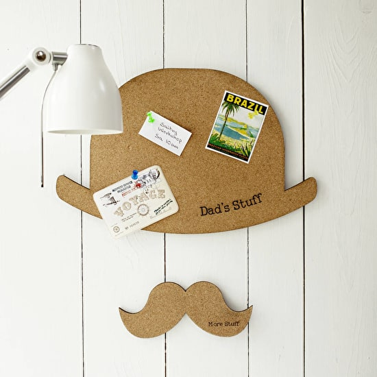 Personalised Hat And Moustache Pinboard