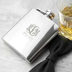 Wedding Monogram Hip Flask