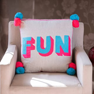 Fun Pom Pom Cushion