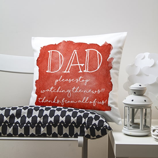 Personalised Dads Cushion Cover