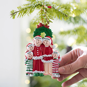 Personalised Pyjama Family Hanging Decoration