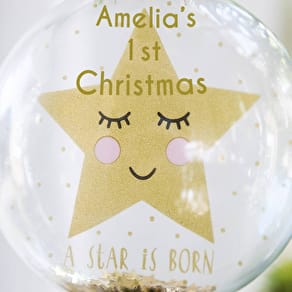 A Star is born Personalised Bauble