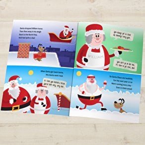 'When Santa Got Stuck Up The Chimney' Personalised Book