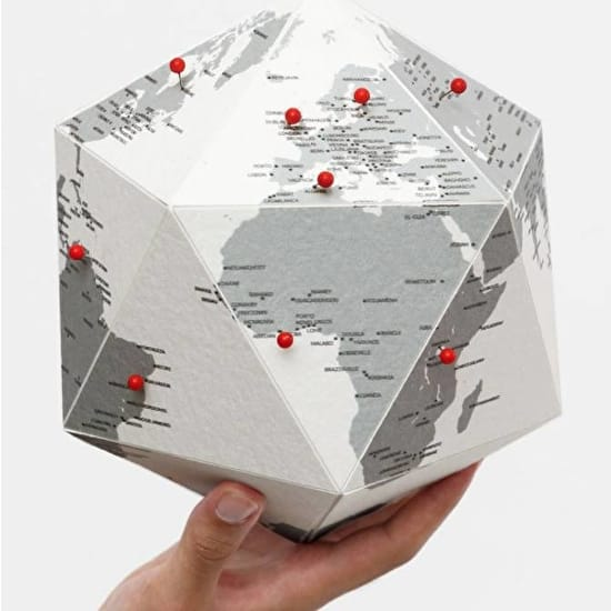 Push Pin 3D Card Globe