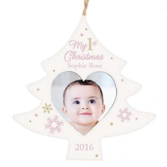Baby First Christmas Personalised Frame