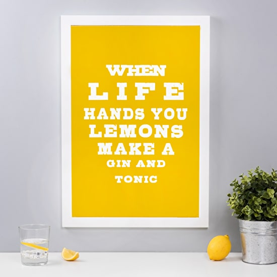 Gin' Framed Wall Art