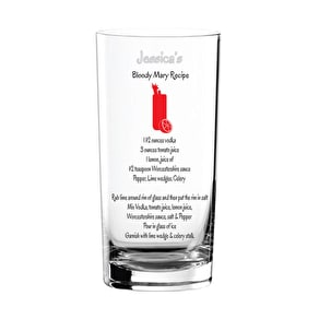 Personalised Cocktail Recipe Glass