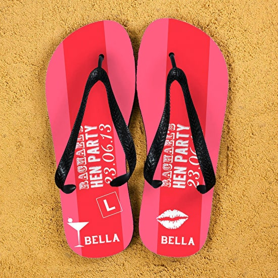 Hen Party Personalised Flip Flops