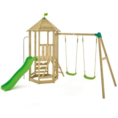 TP Castlewood Tower with Swing arm, Slide and seats.