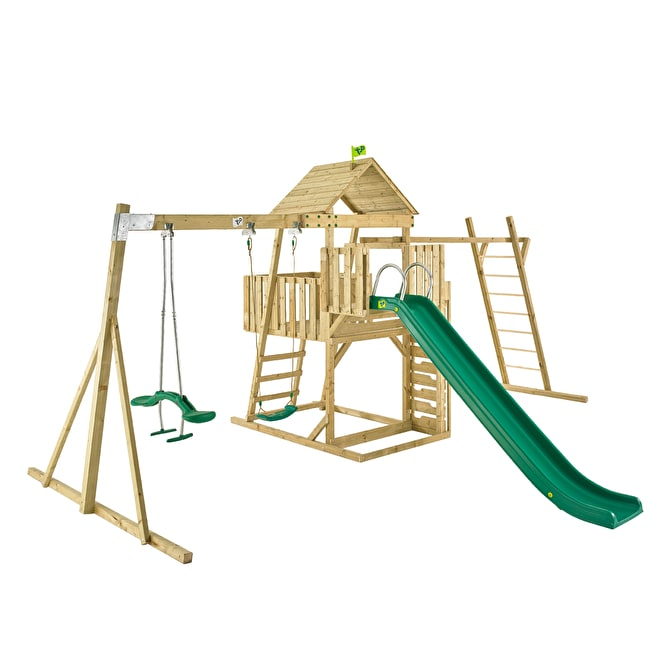TP Kingswood2 Tower with slide, swing arm with duo rider and swing seat