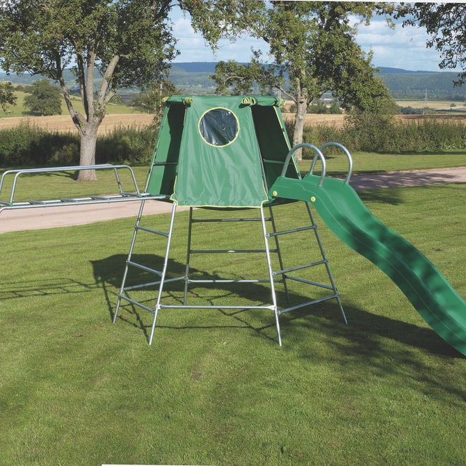 TP Explorer climbing frame with slide and Jungle Run