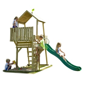 TP Kingswood Normandy Wooden Climbing Frame & Slide-FSC<sup>&reg;</sup>