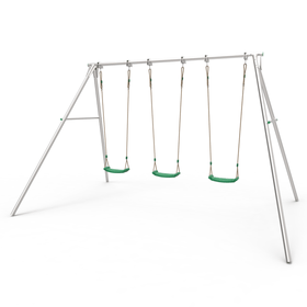 TP Triple Giant Swing Frame with Lime Green Swing Seats
