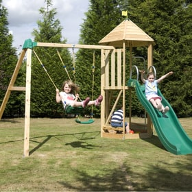 TP Castlewood Tower with Double Swing Arm and CrazyWavy Slide - FSC